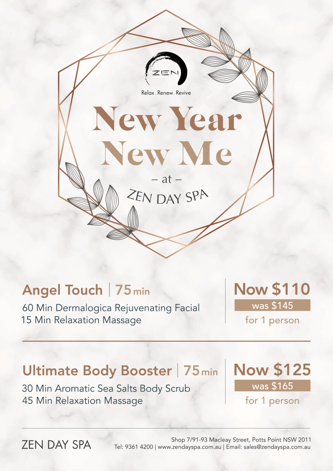 new year spa packages