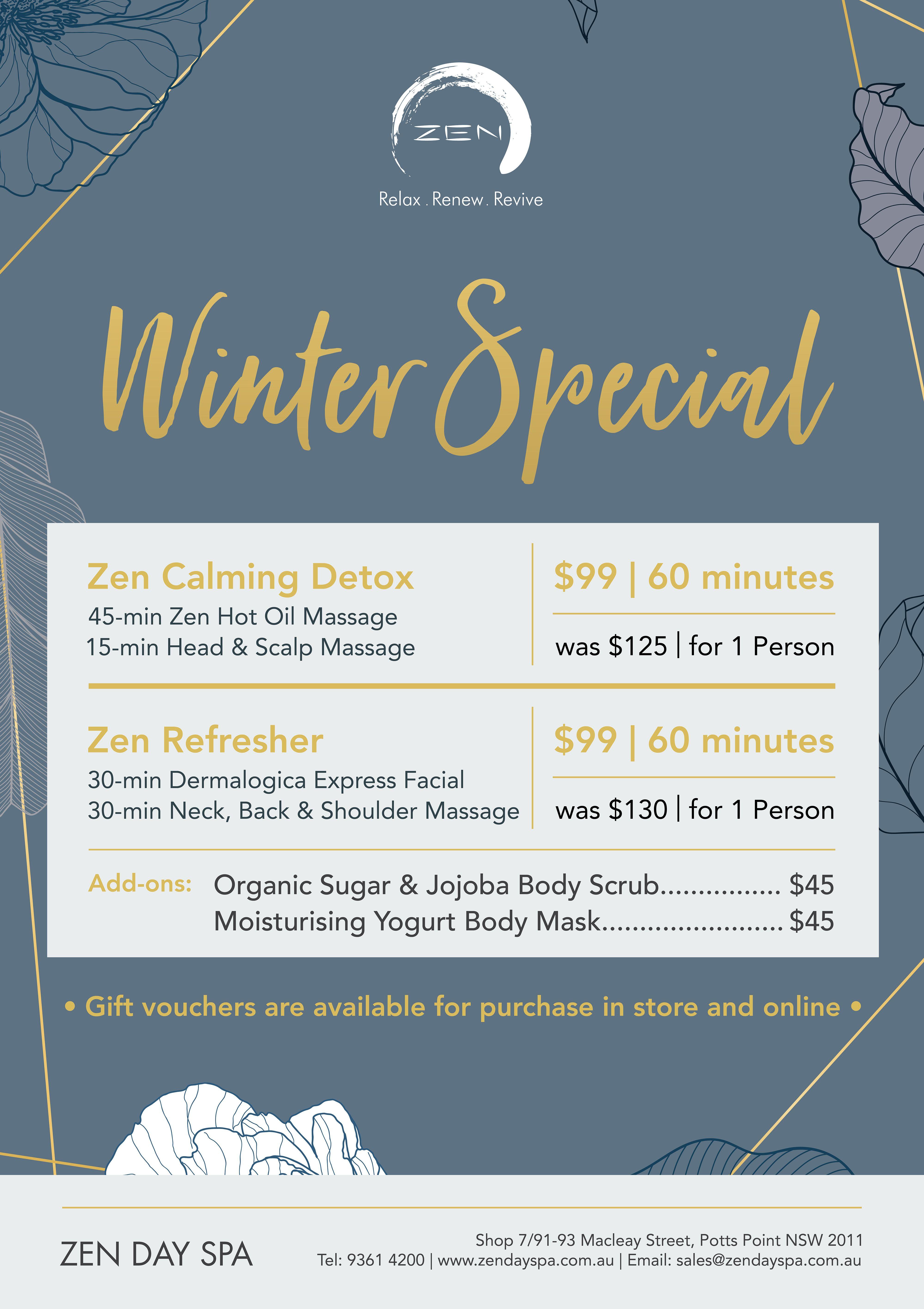 Winter Spa Offers Sydney
